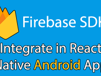 Integrate Firebase SDK in React Native Android Project