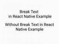 React Native Insert Break Line Text Multiple Line Text Example