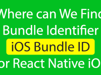 Where can We Find Bundle Identifier for React Native iOS Project