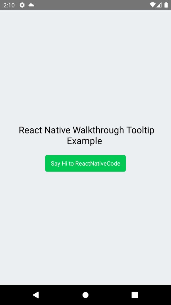 React Native Walkthrough Tooltip NPM - Android iOS Example