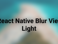 React Native Community Blur Background View Android iOS Example