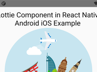 React Native Lottie Animation NPM Package Android iOS Example