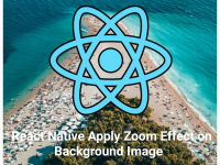 React Native Apply Auto Zoom on Background Image Example