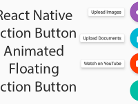Example of React Native Action Button   Floating Action Button